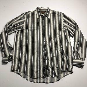 Michael Michael Kors Striped Dress Shirt Large